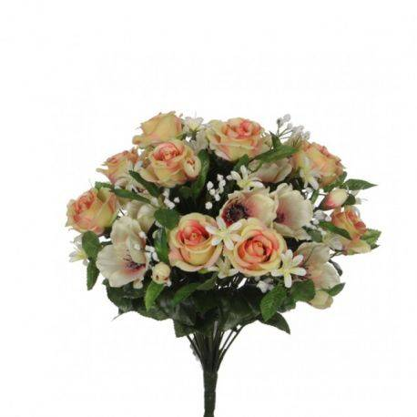 Buchet Rose Anemone Peach