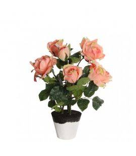 Flori artificiale in ghiveci Trandafiri H40 Rose Bush